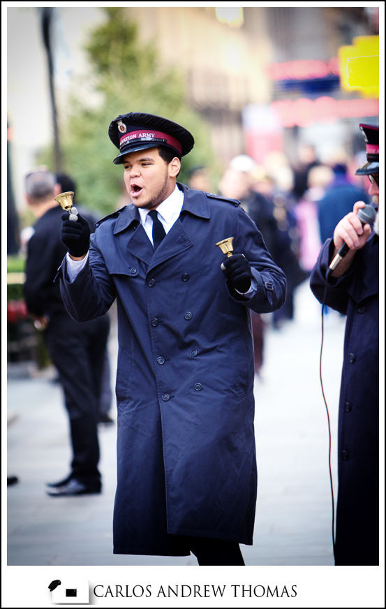 Rockefeller Center, salvation army, officer