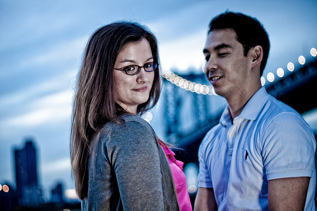 New York Engagement photo.