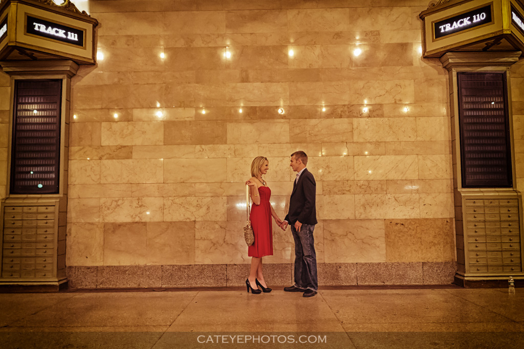 engagement session, grand central terminal