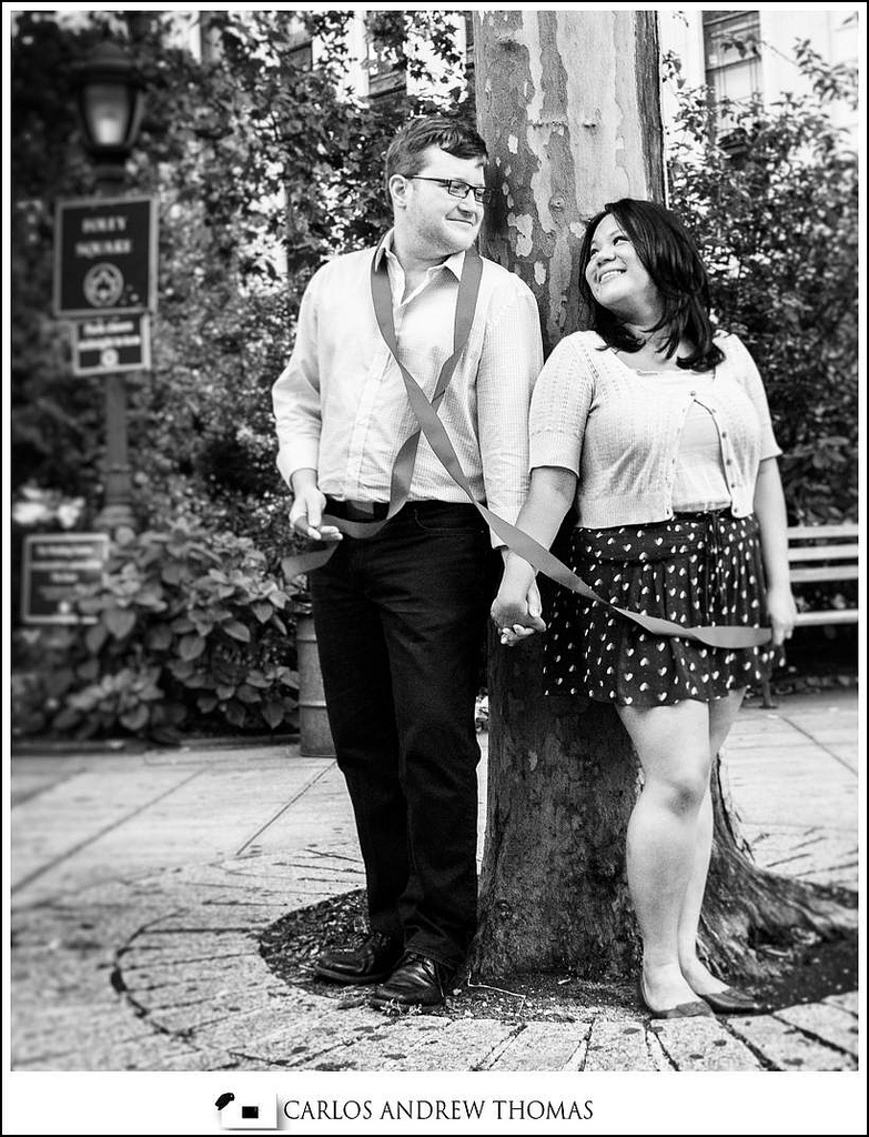 Vonny + Brandon NYC E-session, black and white engagement photography, brooklyn engagement photographer