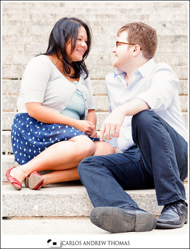 Vonny + Brandon NYC E-session,steps, couple, engagement session