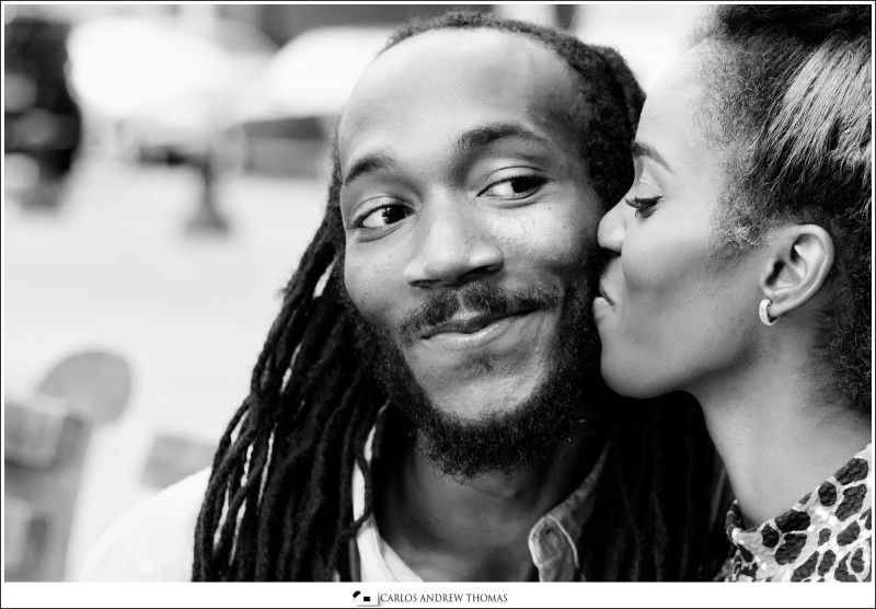 Brooklyn engagement session , black couple