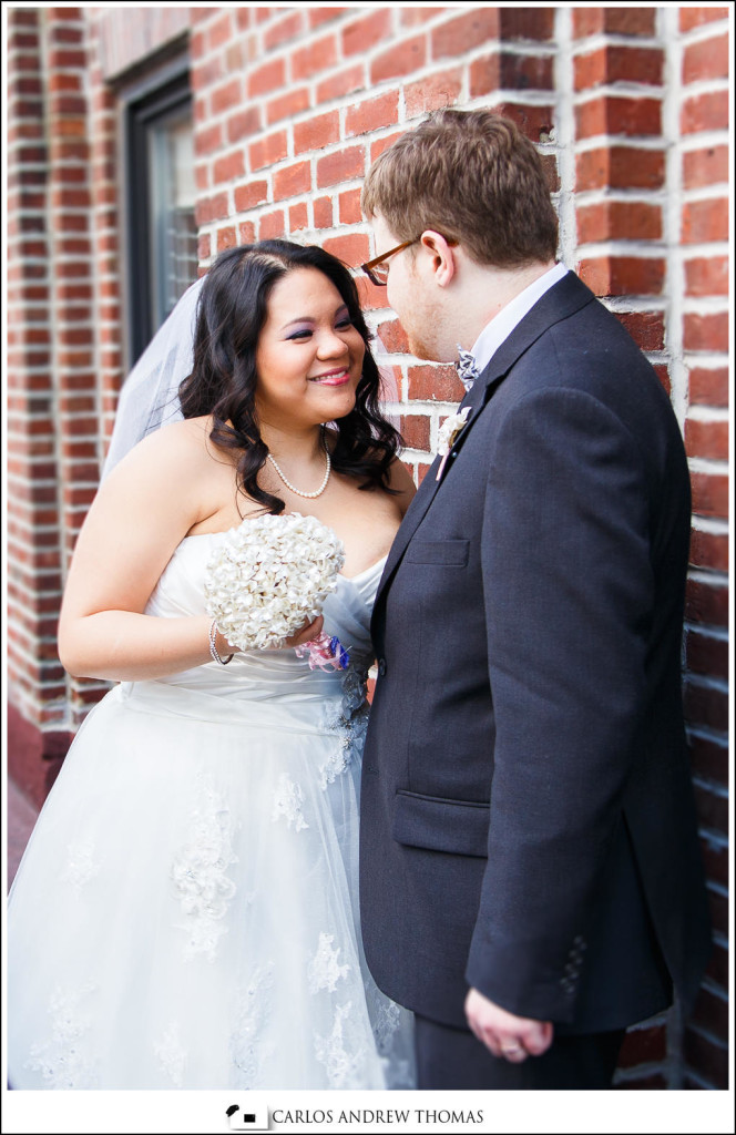 bride and groom portrait,Vonny and Brandon's Wedding| New York, NY