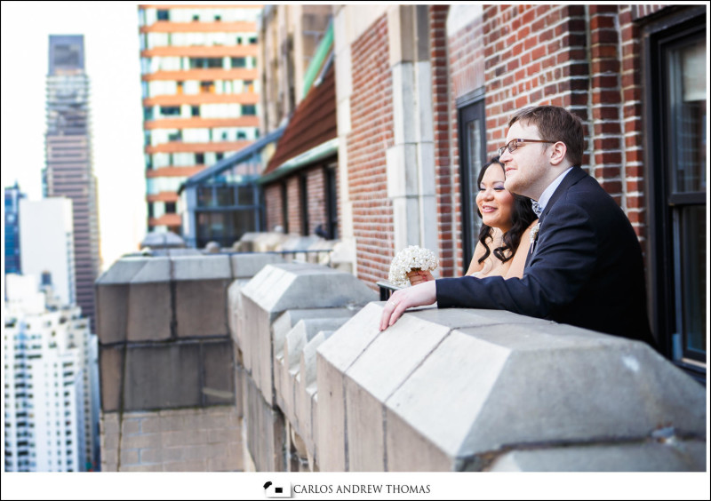bride groom portrait, hotel balcony