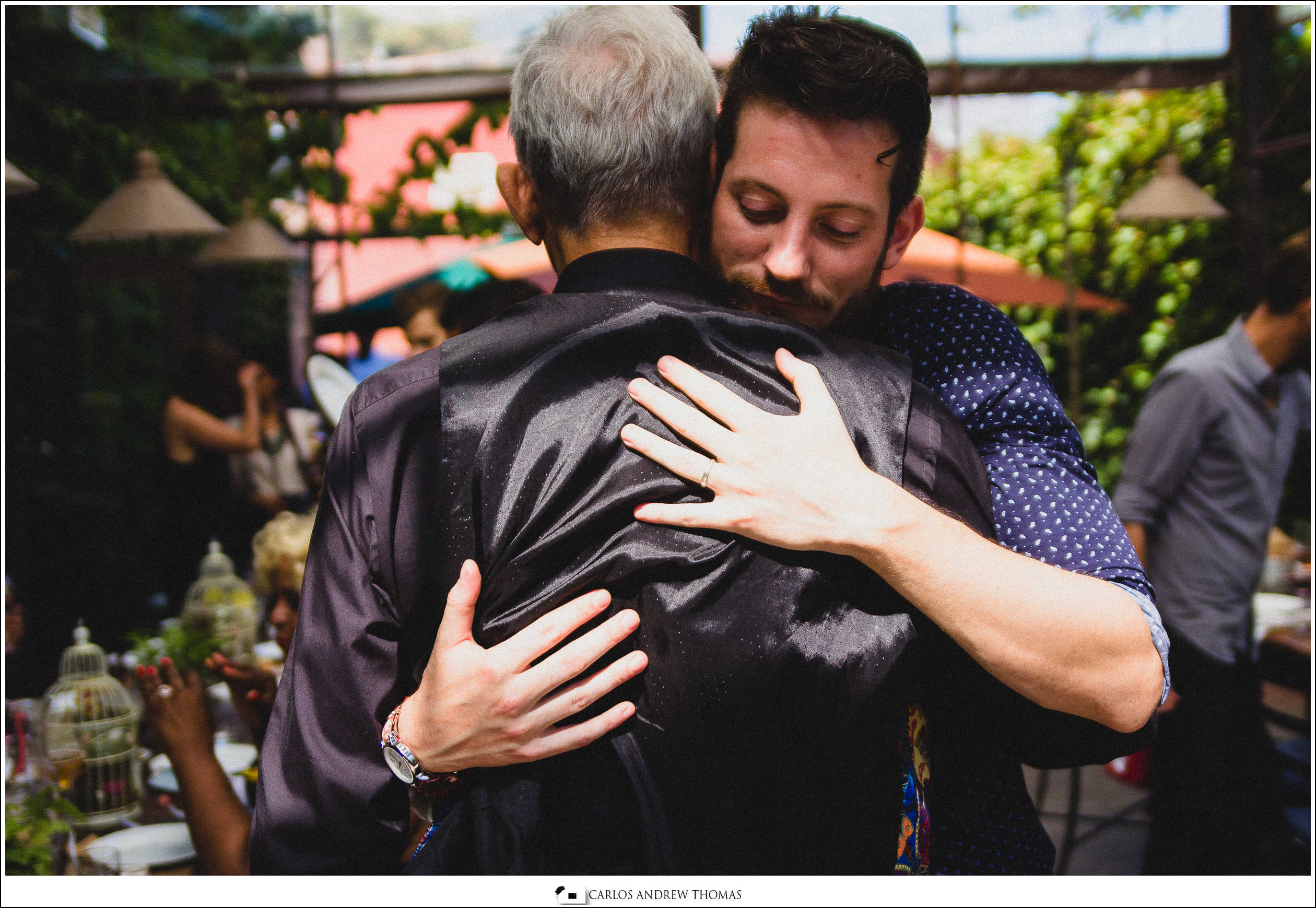 wedding,brooklyn,williamsburg,same-sex,hugging,father-son