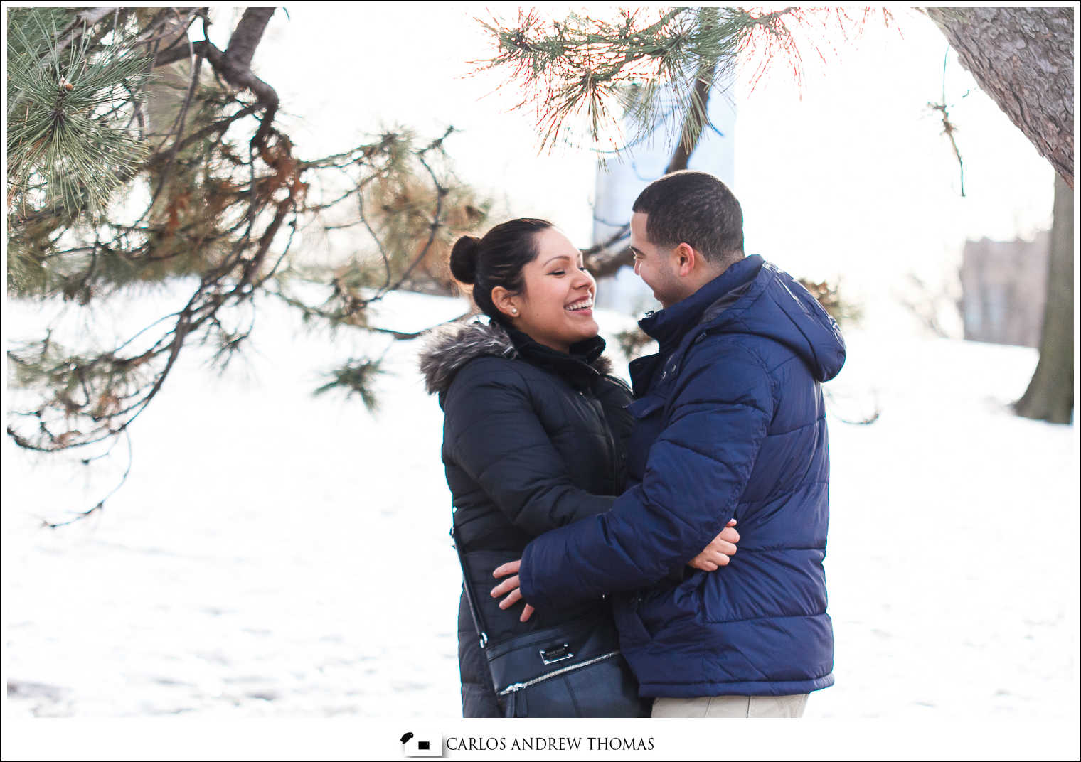 Olga + Juan Carlos Proposal + Engagement Session | Bethesda Foun
