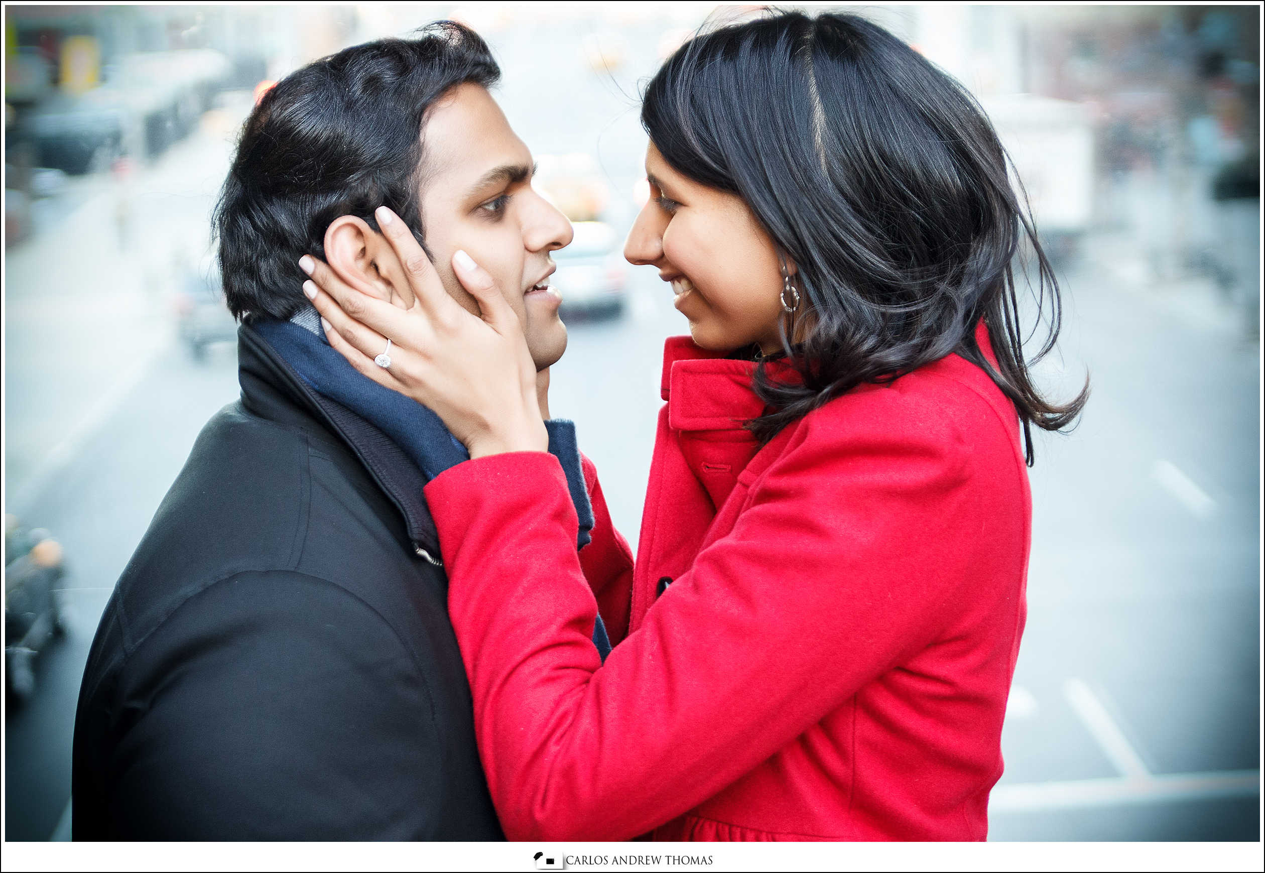 Ava + Hemang E-session | Highline Park, NYC
