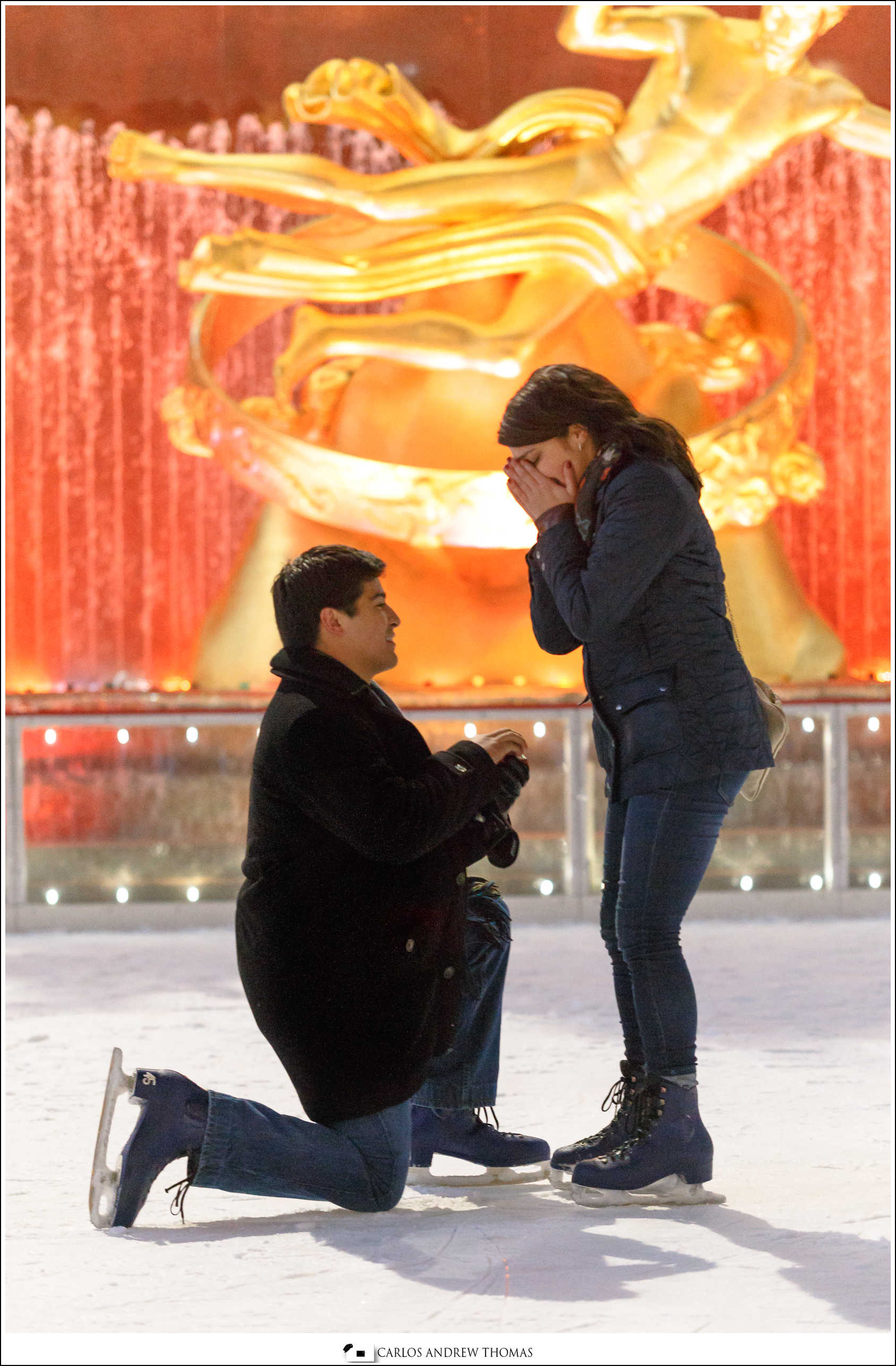 Nick + Shayna | Rockefeller Plaza Proposal| 2014