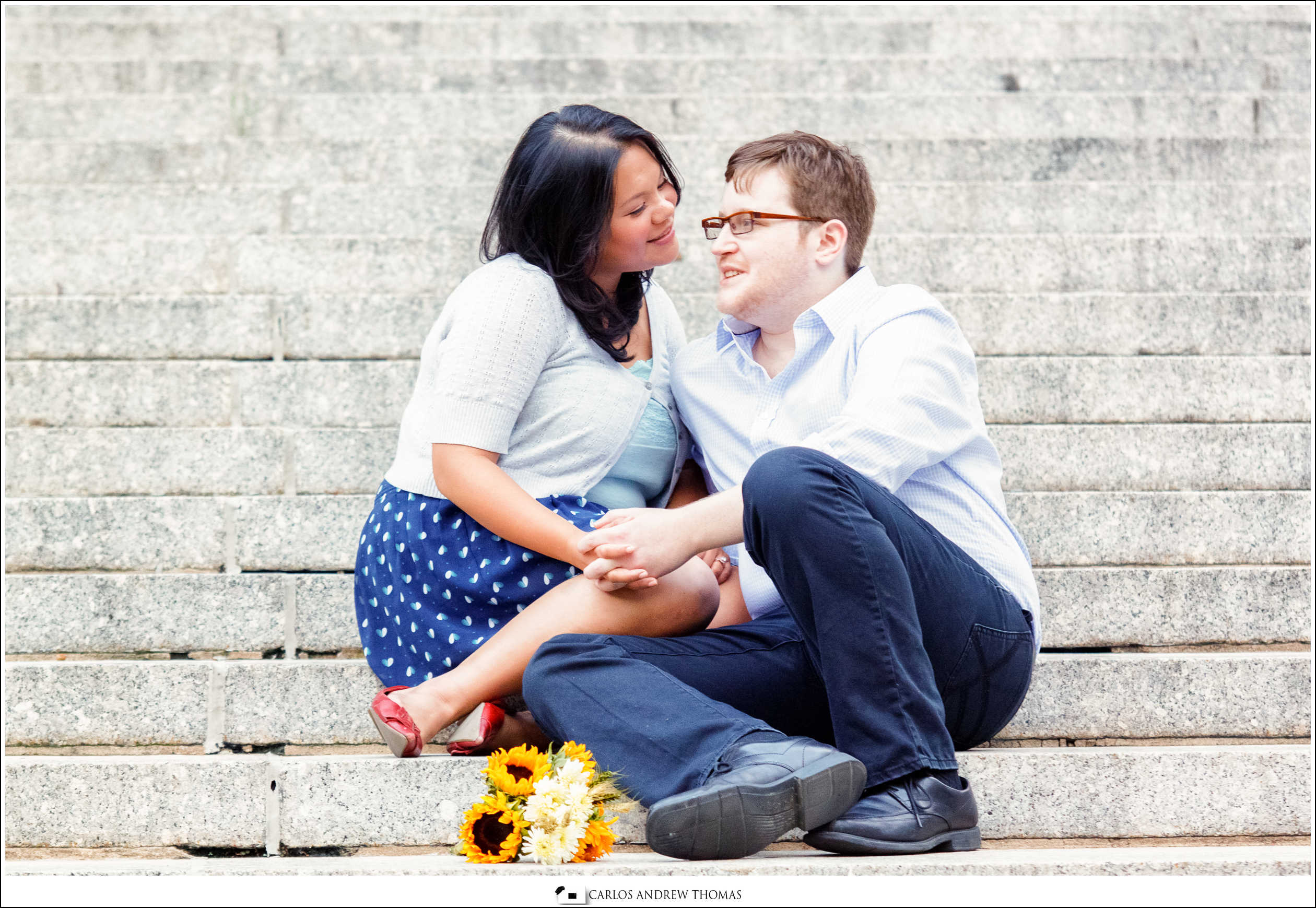 Vonny + Brandon NYC E-session | Chinatown