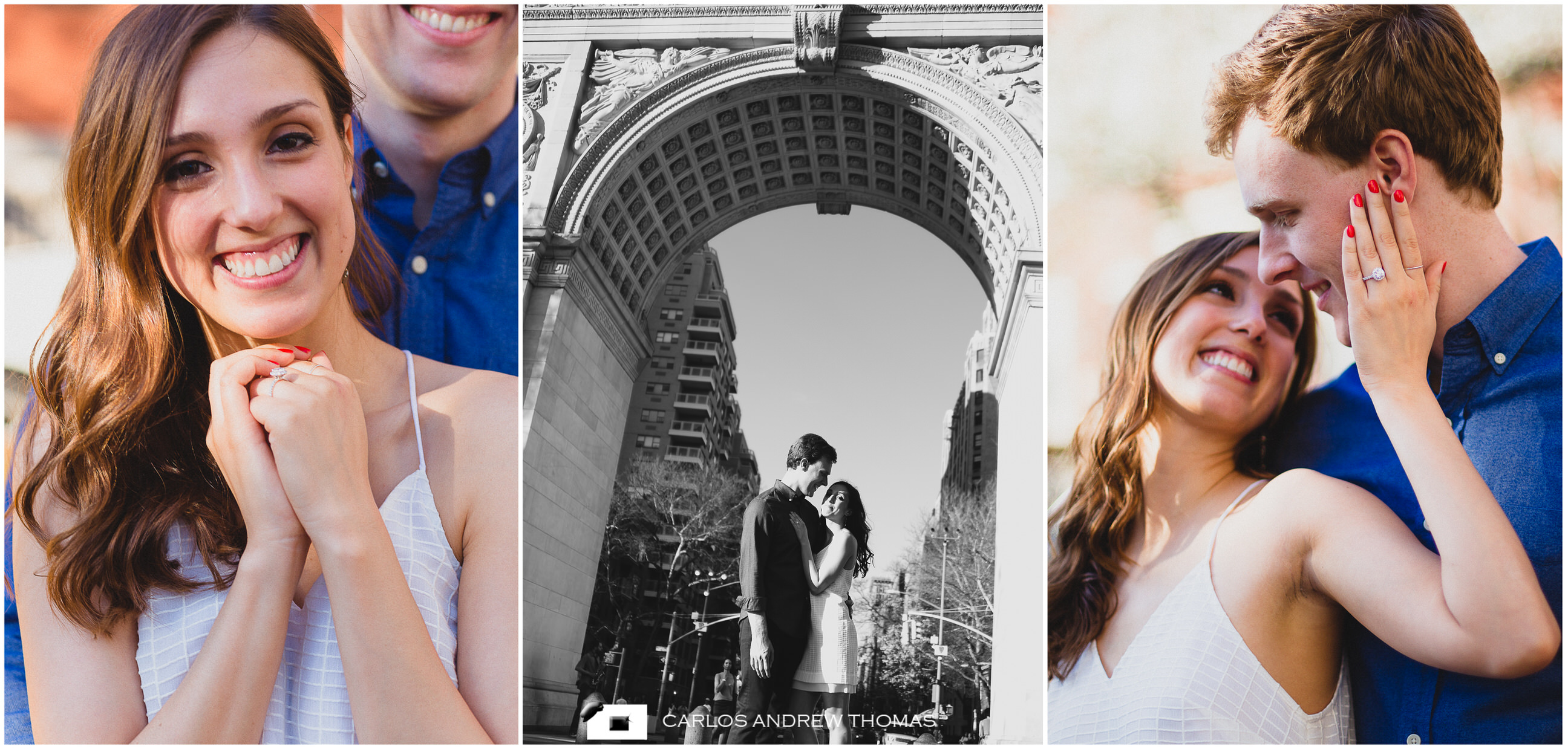 New York Engagement Session, couple, washington square park,proposal photography
