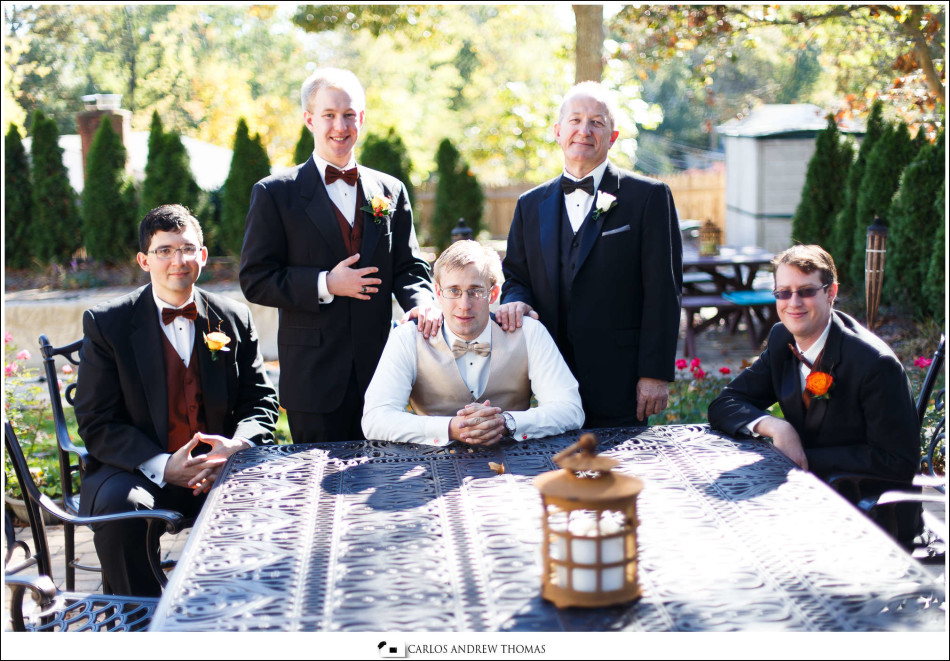 groomsmen,wedding, fall season